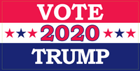 Vote Trump 2020 Red White And Blue Stars- Bumper Sticker