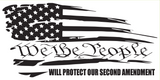 We The People Will Protect Our Second Amendment- Bumper Sticker
