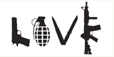 LOVE Weapons - Bumper Sticker