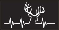 Deer Heartbeat - Bumper Sticker
