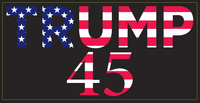 Trump 45 - Bumper Sticker