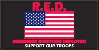 R.E.D Remember Everyone Deployed Support Our Troops- Bumper Sticker