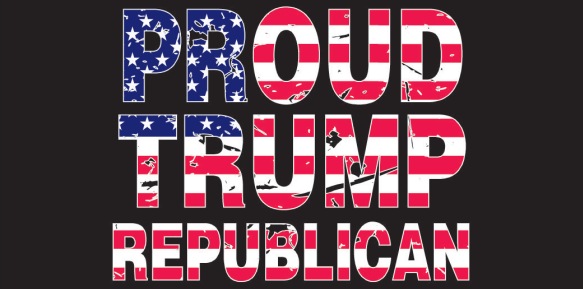Proud Trump Republican Bumper Sticker