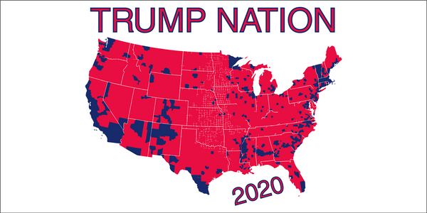 Trump Nation 2020 Republic Map Bumper Sticker