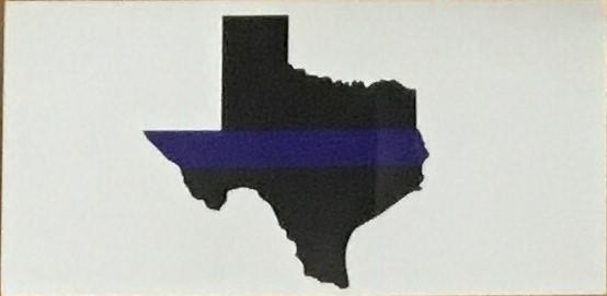 TEXAS BLUE LINE OFFICIAL BUMPER STICKER PACK OF 50 BUMPER STICKERS MADE IN USA WHOLESALE BY THE PACK OF 50!