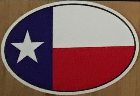 TEXAS FLAG OVAL OFFICIAL BUMPER STICKER PACK OF 50 BUMPER STICKERS MADE IN USA WHOLESALE BY THE PACK OF 50!
