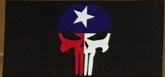 TEXAS SKULL OFFICIAL BUMPER STICKER PACK OF 50 BUMPER STICKERS MADE IN USA WHOLESALE BY THE PACK OF 50!