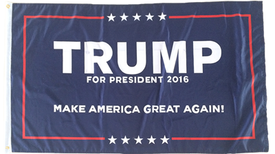 12 TRUMP I OFFICIAL 2016 CAMPAIGN FLAG 12x18 Inches Grommets Boat Flags Rough Tex ® 100D FLAGS BY THE DOZEN WHOLESALE PER DESIGN!