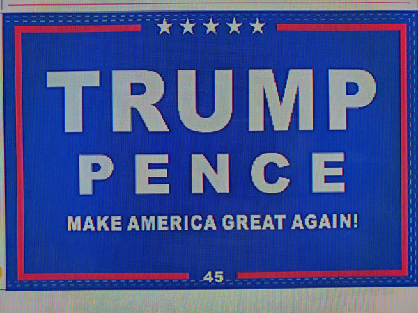 *TEMPORARILY OUT OF STOCK* TRUMP PENCE Campaign Flag 12x18 Inches Boat Flags 100D Rough Tex ®DOUBLE SIDED