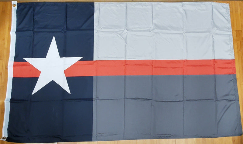 Texas Red Line Fire Memorial Flag 100D Rough Tex ® 3x5