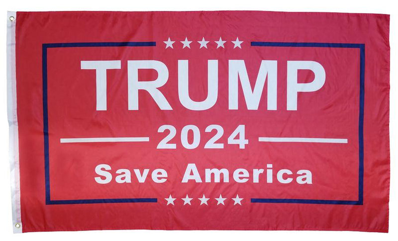 Trump 2024 Save America Red 3'X5' Flag Rough Tex® 150D Nylon