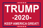 "Trump 2020 (KAG) Red 11""x18"" Car Flag ROUGH TEX® Nylon"