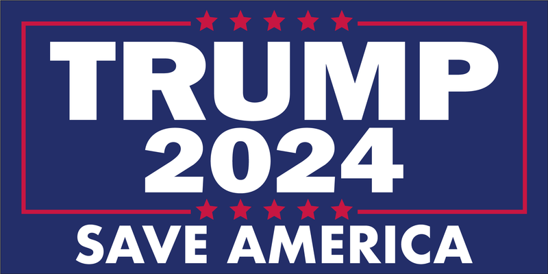 Trump 2024 Save America - Bumper Sticker