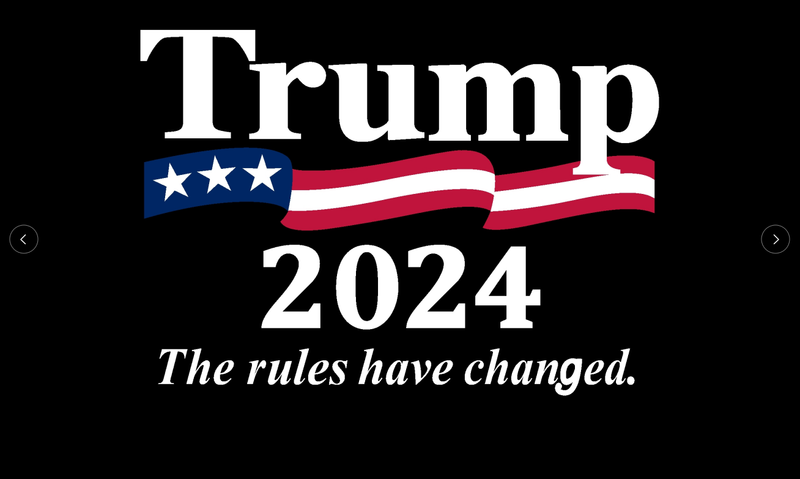 Trump 2024 The Rules Have Changed 3'X5' Flag ROUGH TEX® 150D Nylon