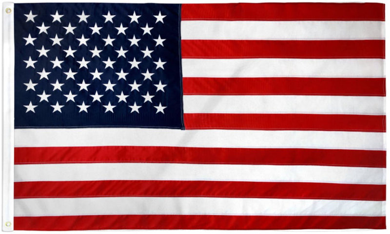 United States of America 3'x5' Embroidered Flag ROUGH TEX® 600D 2Ply