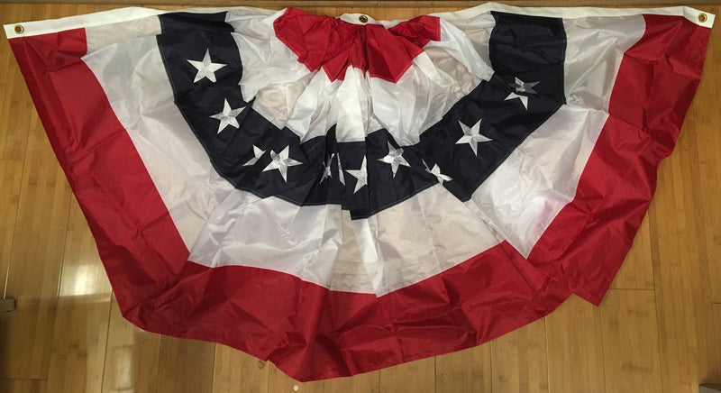 1.5'X3' AMERICANA NYLON EMBROIDERED USA FULL FAN
