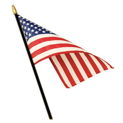 USA 12x18 inches Stick Flags Dura-Lite ™ Poly Printed American Flags
