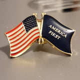 USA America First Cloisonne Hat & Lapel Pin