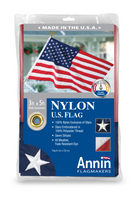 Annin U.S. American Flag 3x5 ft 100% Nylon Embroidered Star Premium Quality USA!