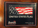USA 3x5 foot Annin Flagmakers American Embroidered Nylon Flag