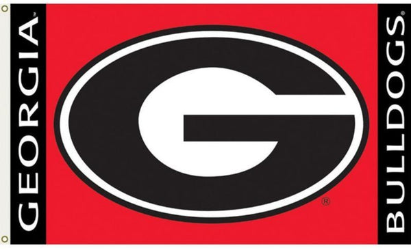 University Of Georgia UGA Red Double Sided 3'X5' BSI® Officially Licensed College Flag