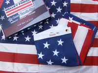 Valley Forge Best Commercial Grade 100% Organic Cotton 3'x5' American Flag USA embroidered stars & sewn stripes Made In U.S.A.