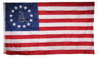 Gadsden Betsy Ross 13 Star USA 3'x5' 68D American Revolution Flag Rough Tex ® Old Americana Original Banners