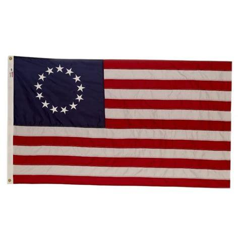 BETSY ROSS COTTON 3X5 FLAG SEWN & EMBROIDERED