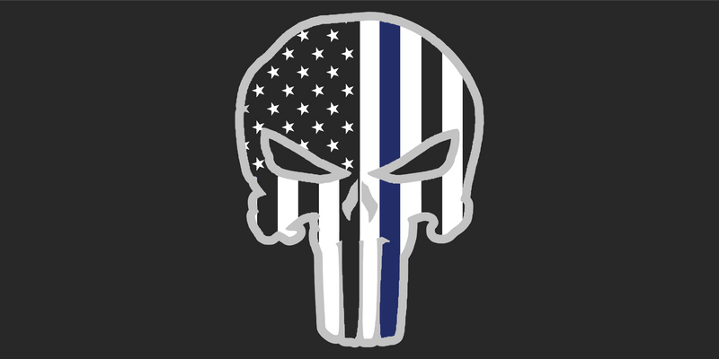 Police Punisher Black - Bumper Sticker