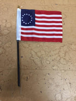Betsy Ross 4x6 Inches Stick Desk Flags
