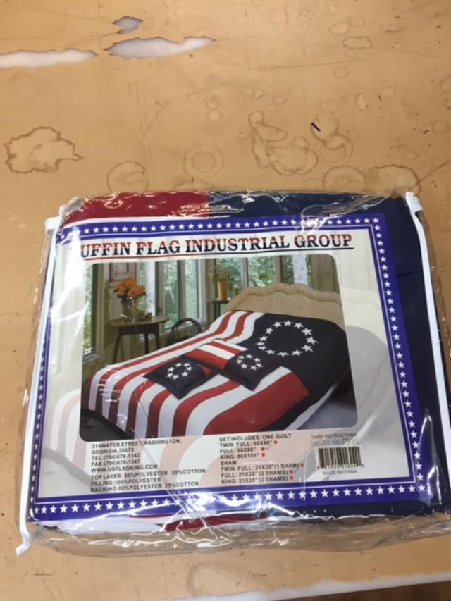 Betsy Ross King or Queen Size Comforter Quilt 100% Cotton Hand Made Blanket Early American Revolution