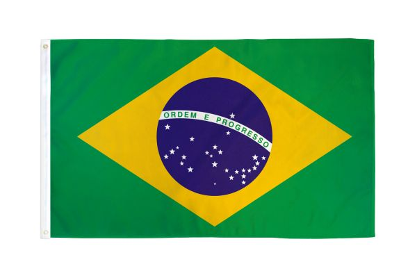 Brazil - 12''X18'' Flag Rough Tex® 68D With Grommets