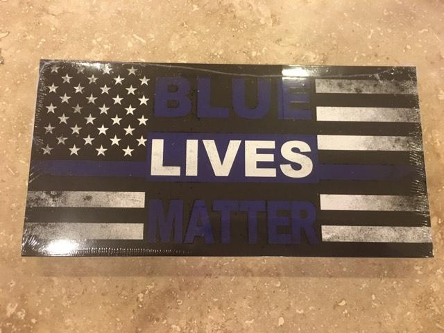 AMERICAN DISTRESS POLICE MEMORIAL BLUE LIVES MATTER POLICE THIN LINE OFFICIAL BUMPER STICKER PACK OF 50 BUMPER STICKERS