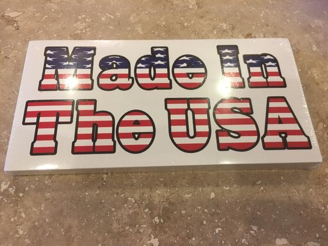 MADE IN THE USA AMERICAN FLAG OFFICIAL BUMPER STICKER PACK OF 50 BUMPER STICKERS MADE IN USA WHOLESALE BY THE PACK OF 50!