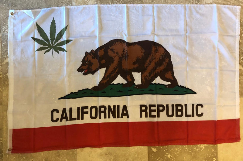 California Leaf Marijuana Republic 3'x5' 100D Flag Rough Tex ®