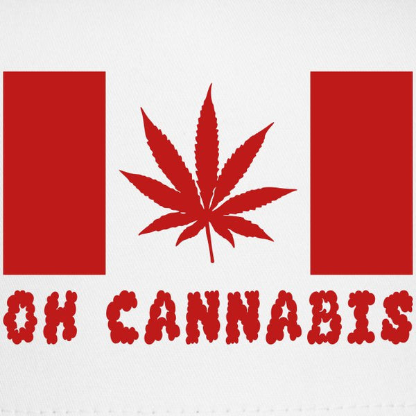 Oh Cannabis Canada Red 3'X5' Flag Rough Tex® 100D