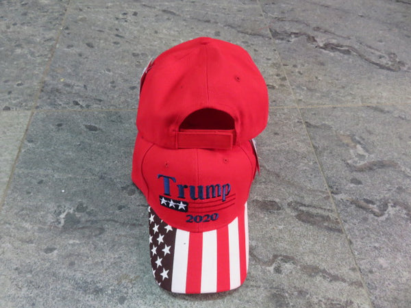 Trump Red 2020 American Flag Series Style Embroidered Cap