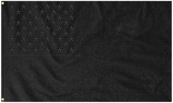 USA Blackout Tactical Embroidered 3'X5' Flag Rough Tex® 150D Nylon