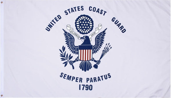Coast Guard U.S. Military 3'x5' 100D Flag Rough Tex ®