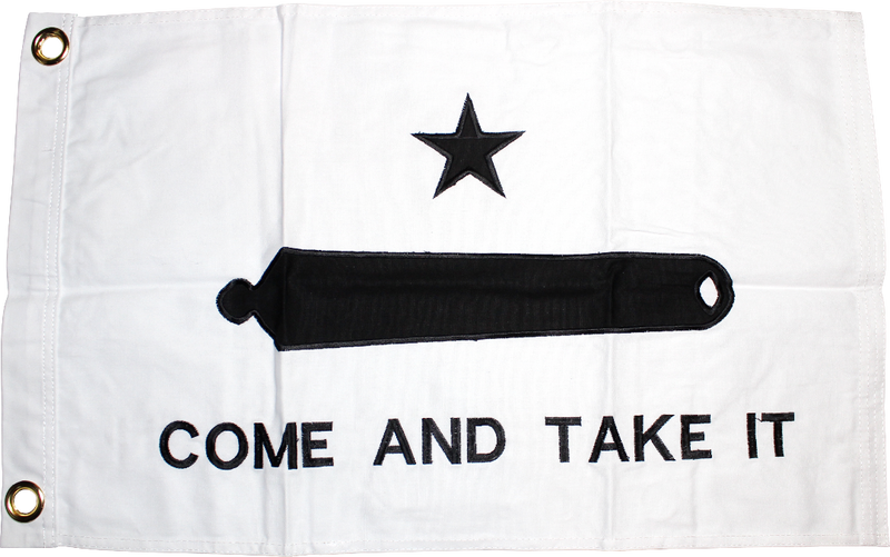 Gonzales Come & Take It Texas 16x24 inches Boat Flags Dura-Lite ™ Cotton Embroidered