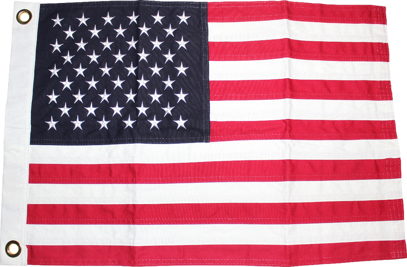 USA 16x24 inches Boat Flags Dura-Lite ™ Cotton American Embroidered