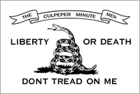 CULPPER LIBERTY OR DEATH DON'T TREAD ON ME COILED TACTICAL Flag with Grommets 12'X18' Rough Tex® 100D