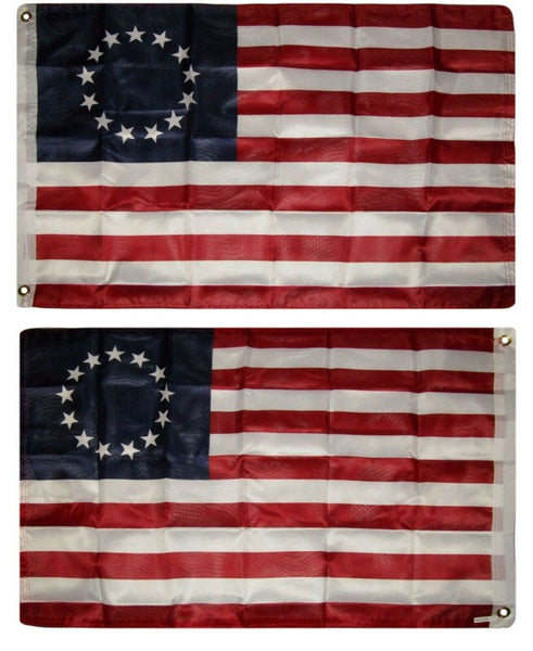Double Ply (2 Flags Sewn Together) Betsy Ross 13 Star USA 3'x5'  American Revolution Flag Rough Tex ® Old Americana Original Banners
