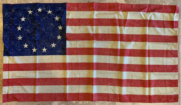 Vintage Betsy Ross Flag With Sleeve 2'X3' - 100D Rough Tex®
