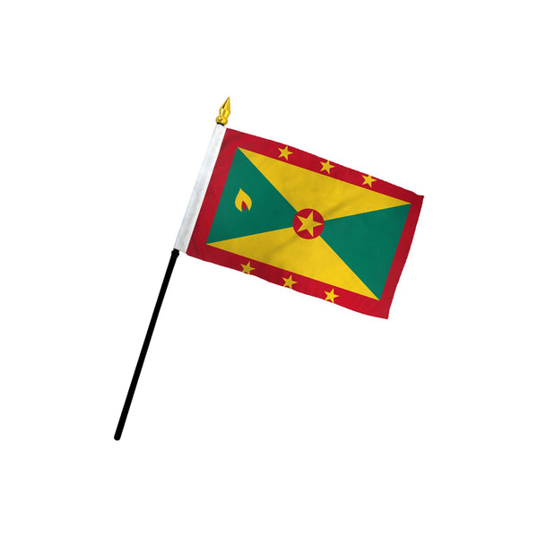 Grenada Stick Flag In Poly- 4''x6'' Rough Tex®