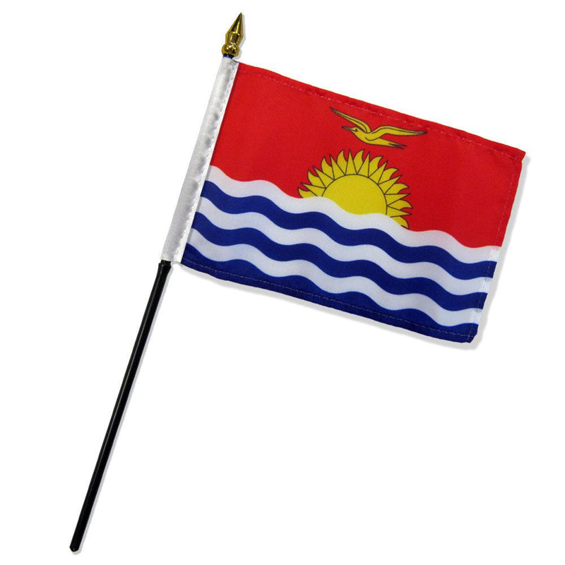 Kiribati Stick Flag In Poly 4''X6''