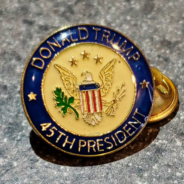 Trump 45th President Lapel Pin 45 US Presidential Seal