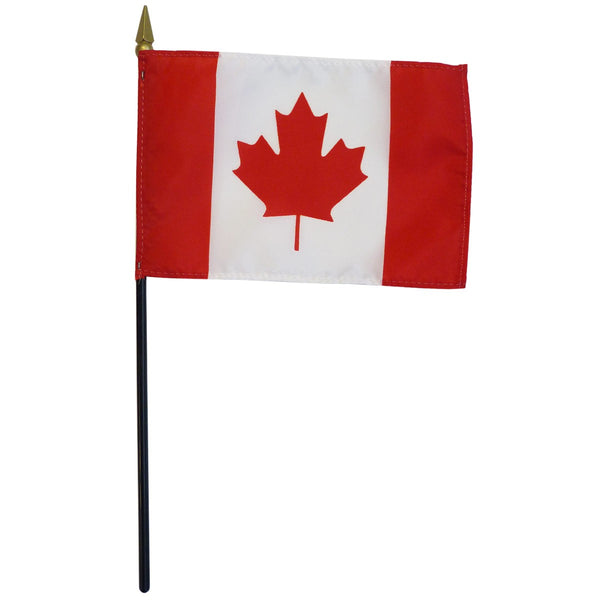 12 Canada 12''X18'' Stick Flags - Rough Tex® 68D Nylon