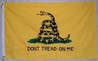 5'X8' GADSDEN DON'T TREAD ON ME FLAG COTTON EMBROIDERED & SEWN