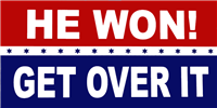 He Won Get Over It Trump Bumper Sticker